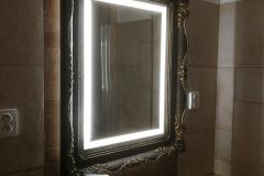 ESMIRA - LED zrkadlo v rustikálnom ráme